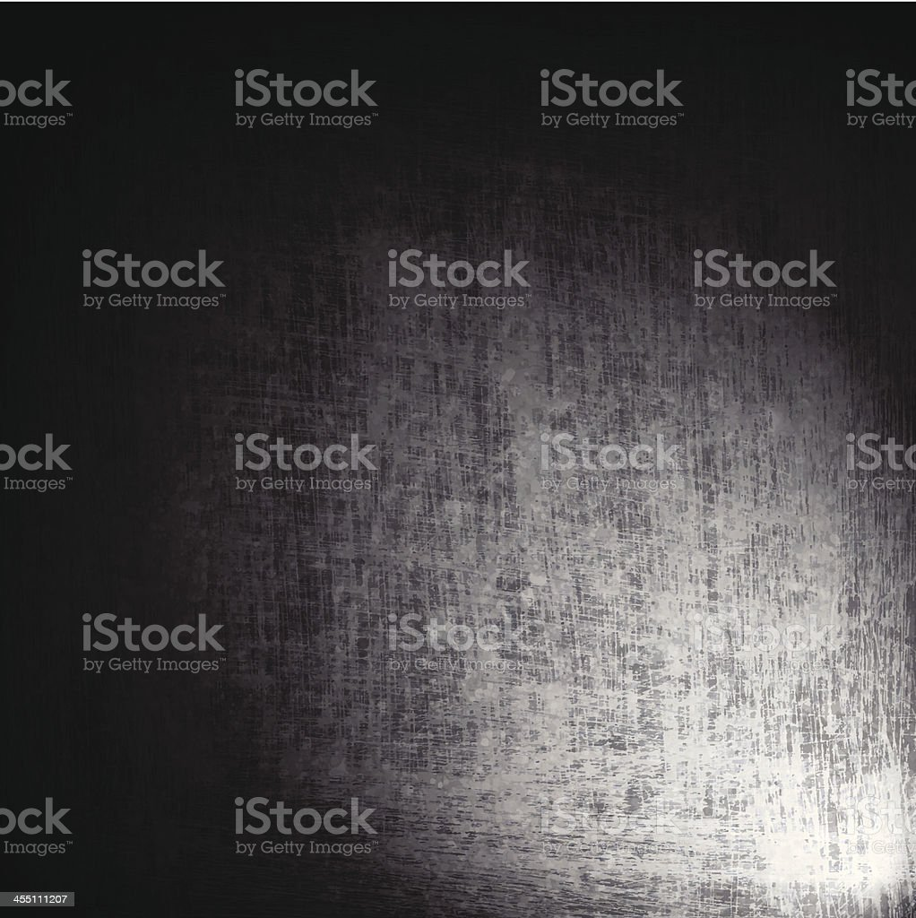 Grey and black background with a light shining on it vector art illustration