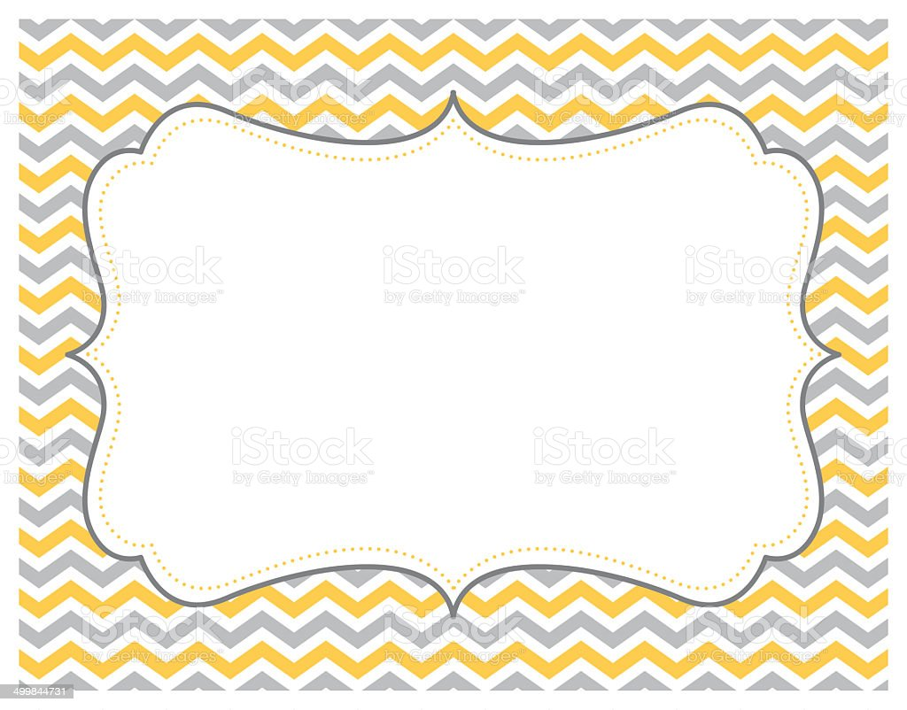 Grey And Yellow Chevron Background stock vector art 499844731 iStock