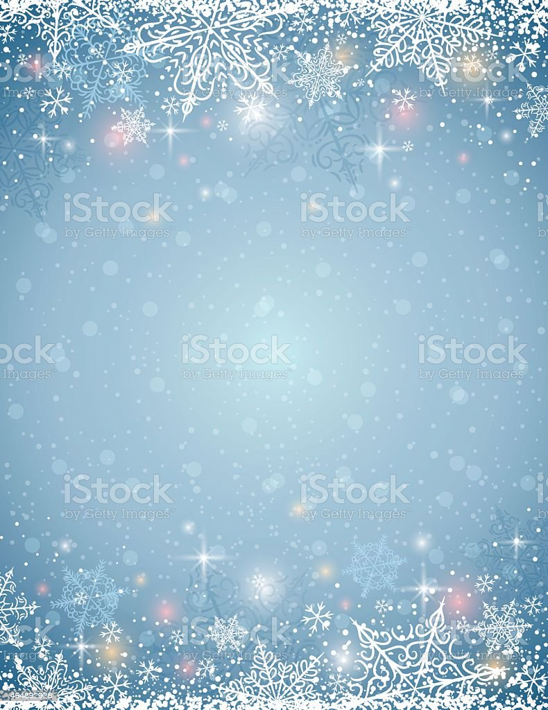 grey background with  frame of snowflakes,  vector vector art illustration