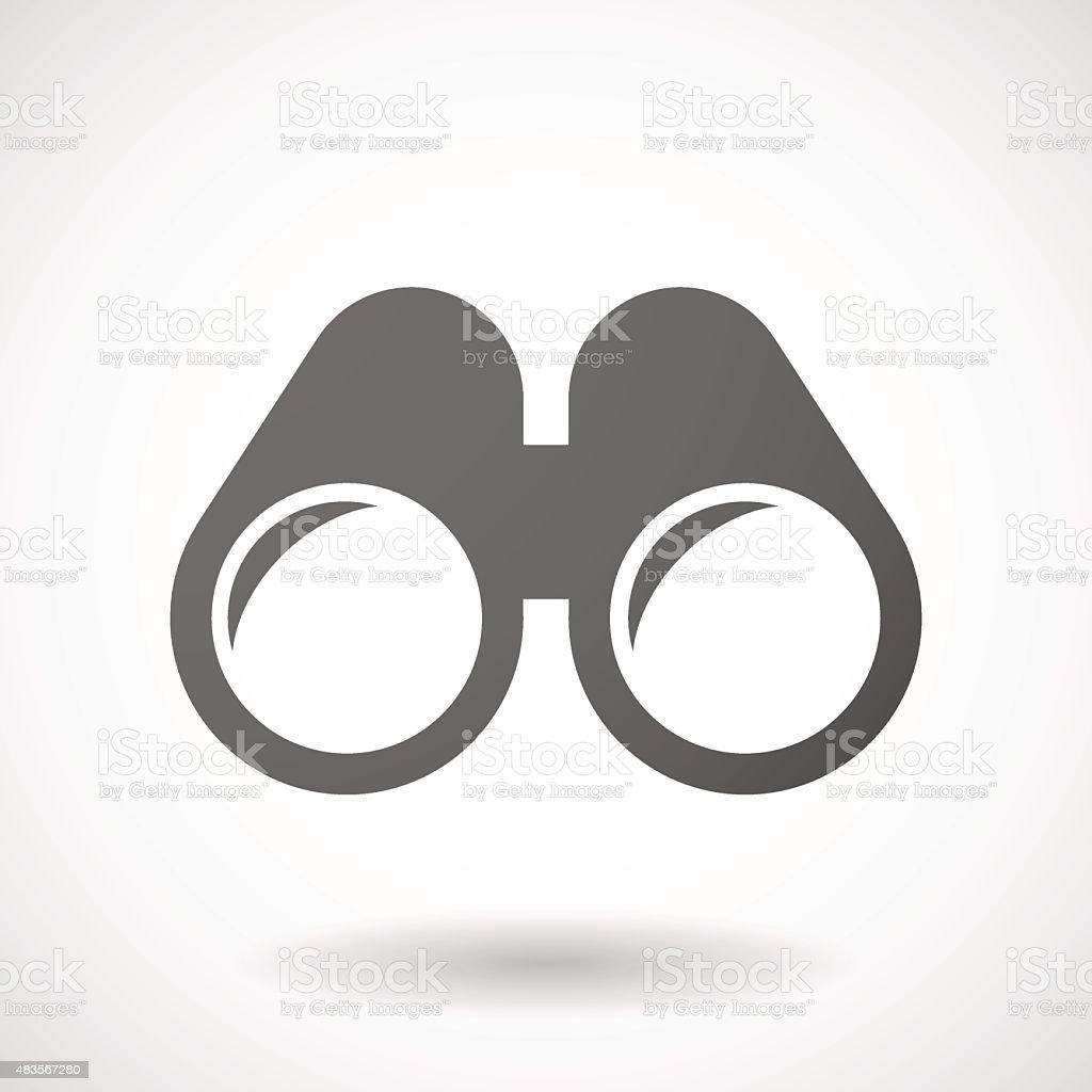 Grey binoculars icon vector art illustration
