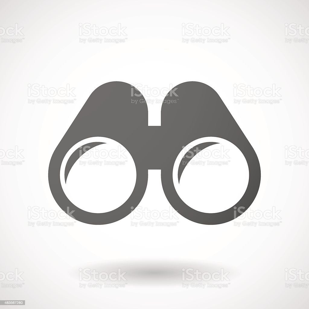 Grey binoculars icon vector art illustration