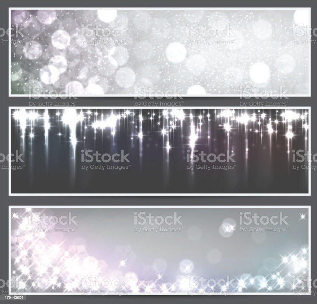 Grey christmas banners. royalty-free stock vector art