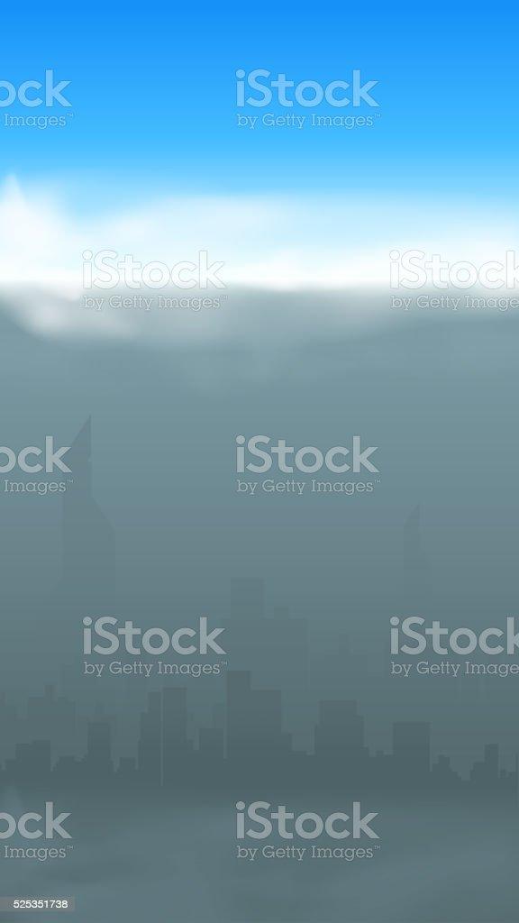 grey city silhouette vector art illustration