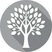 grey flat tree icon