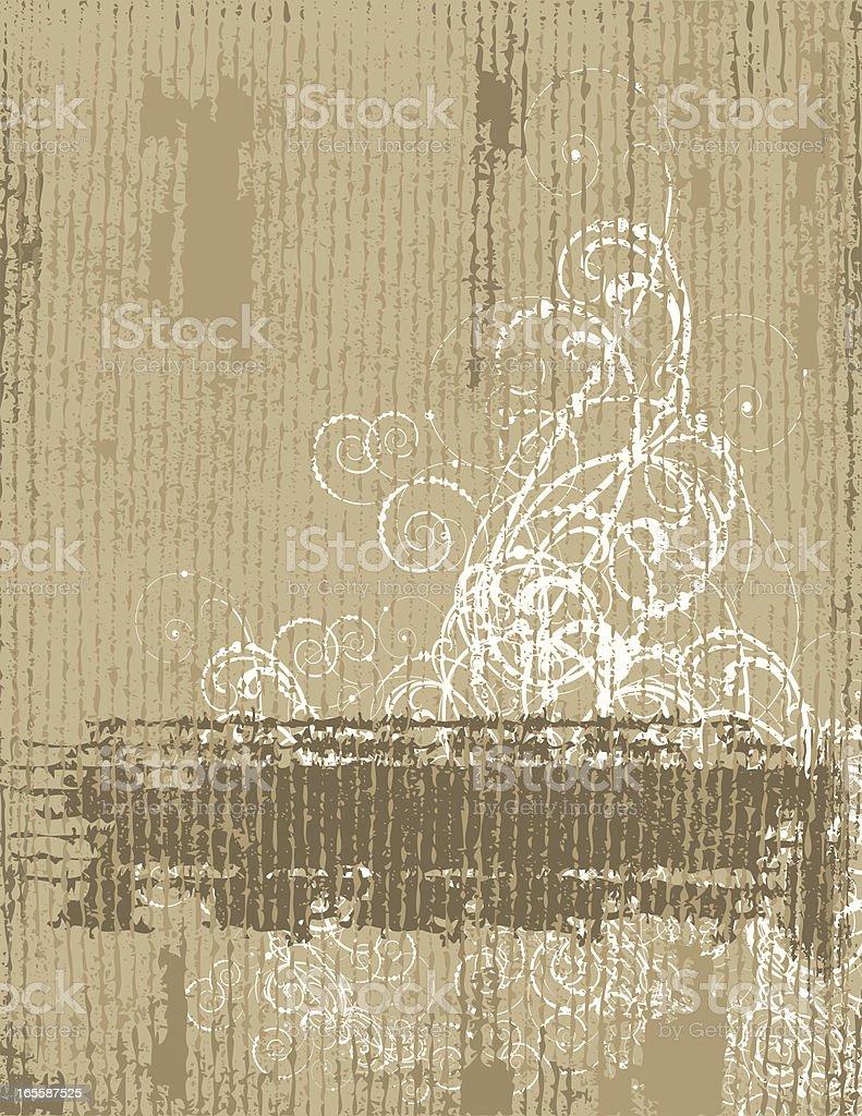 Grey Grunge Scroll Banner royalty-free stock vector art