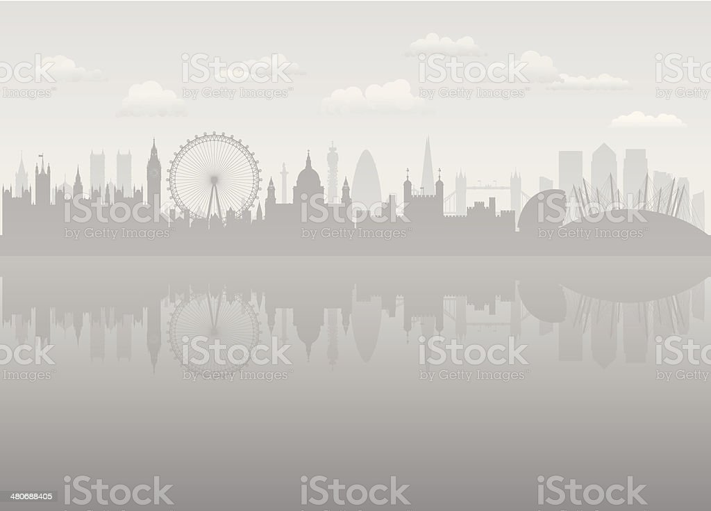 Grey London vector art illustration
