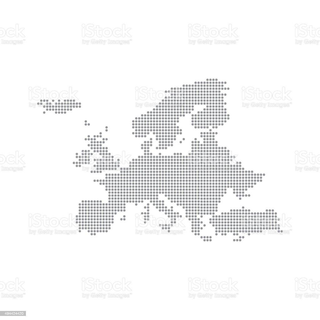 Grey Map Europe In The Dot. Vector illustration vector art illustration