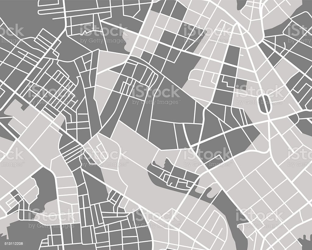grey map seamless vector art illustration