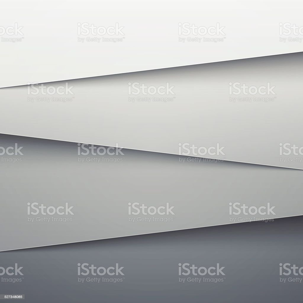 Grey paper layers abstract vector background vector art illustration
