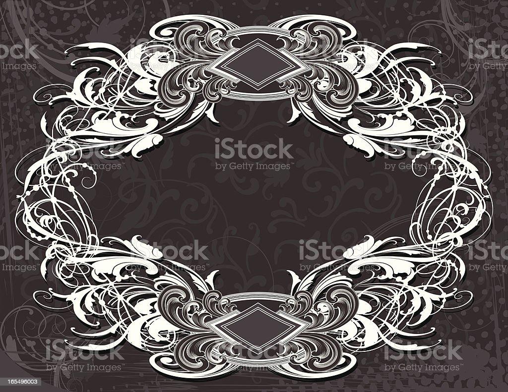 Grey Scroll & Arabesque royalty-free stock vector art