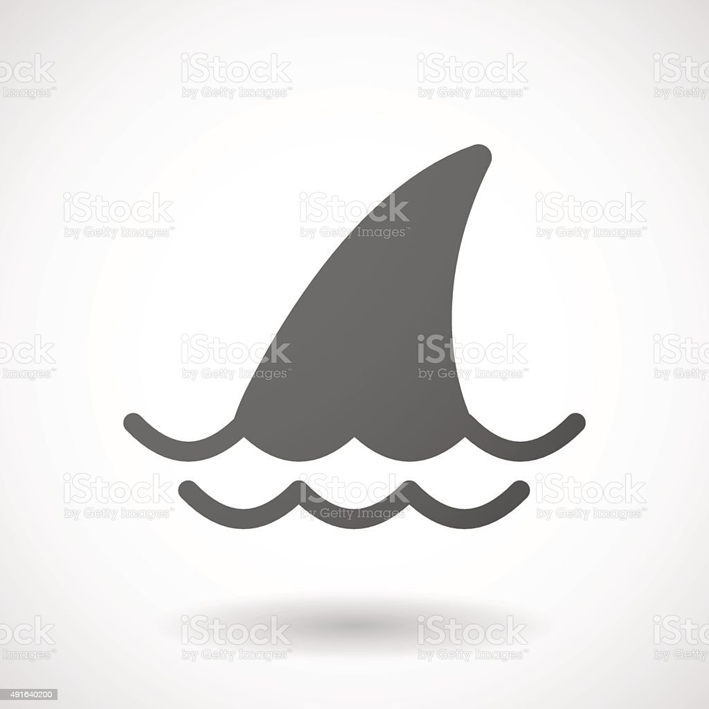 Grey shark icon vector art illustration