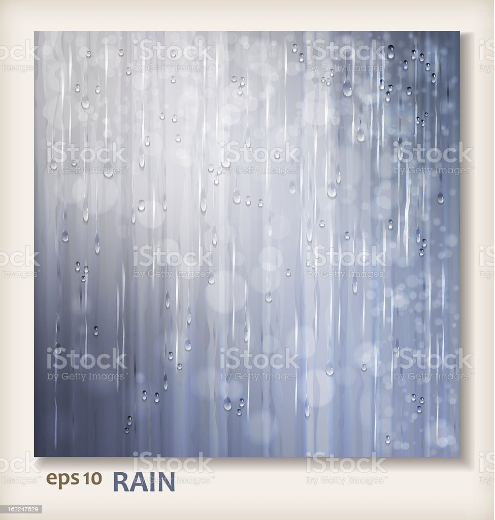 Grey shiny rain. Abstract water background design royalty-free stock vector art