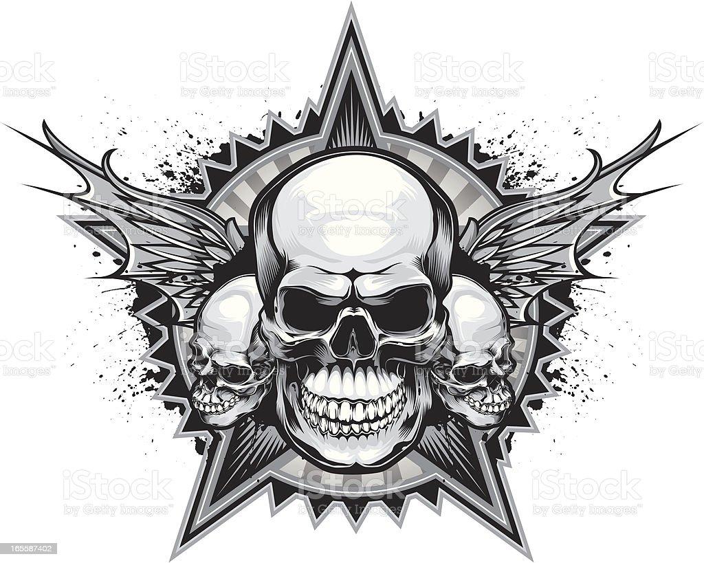 grey skull royalty-free stock vector art