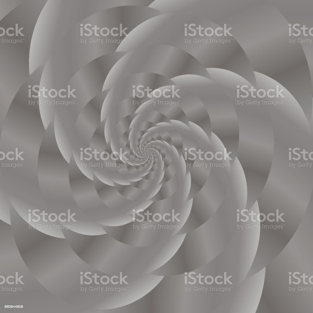 Grey Spiral Background. Fractal Pattern vector art illustration