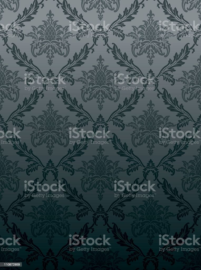 Grey vintage seamless wallpaper royalty-free stock vector art
