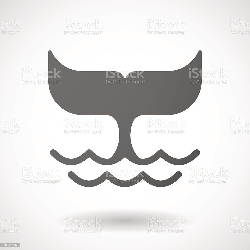 Grey whale icon vector art illustration