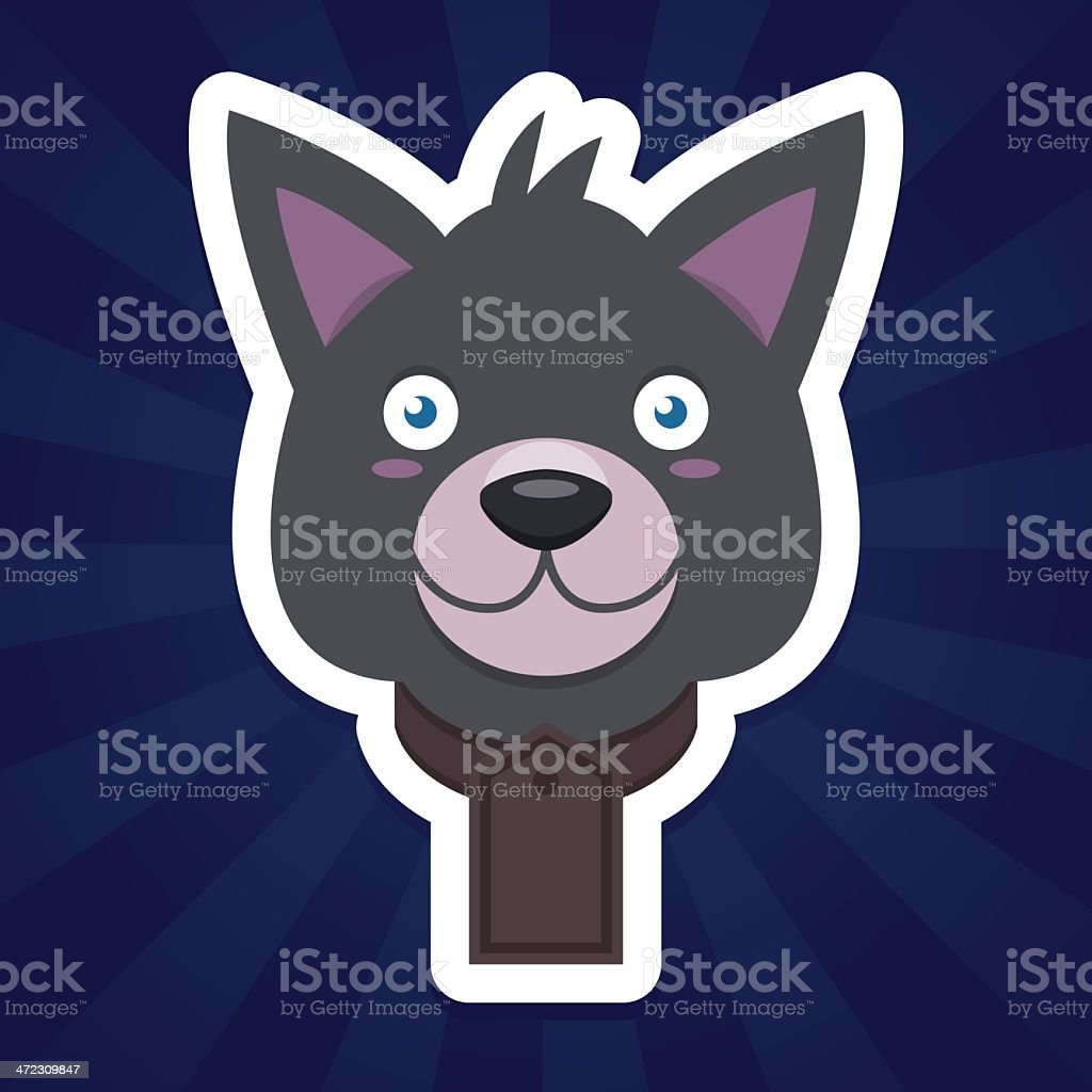 Grey wolf dog royalty-free stock vector art