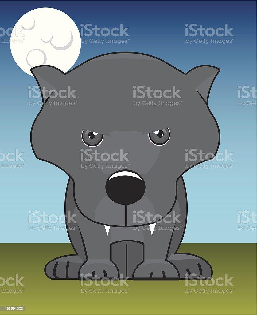 grey  wolf vector art illustration
