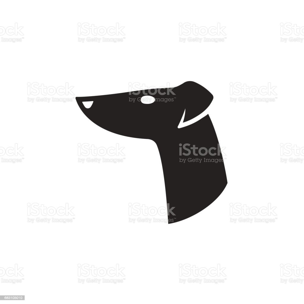 Greyhound head icon vector art illustration