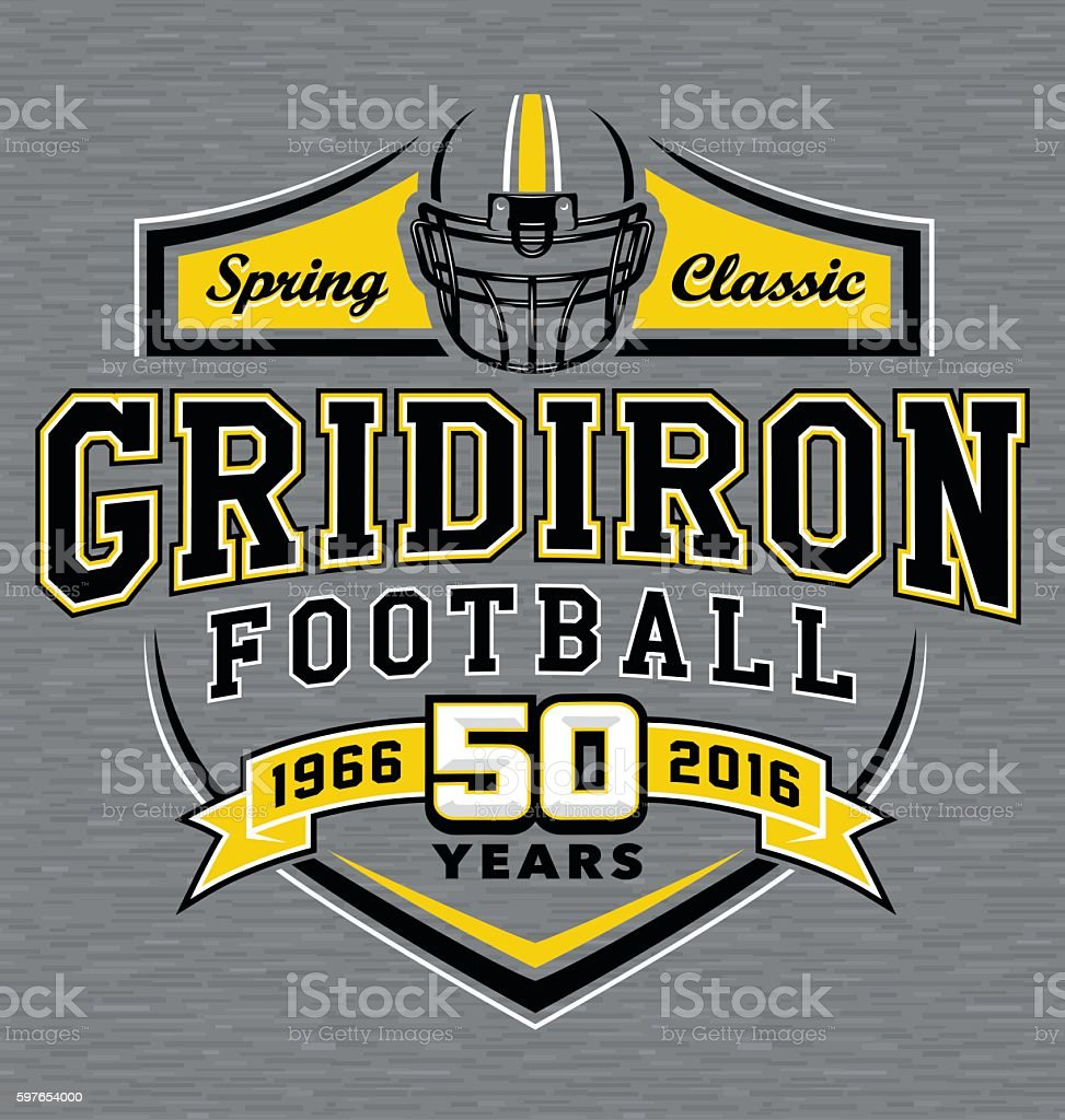 Gridiron football t-shirt graphic design vector art illustration