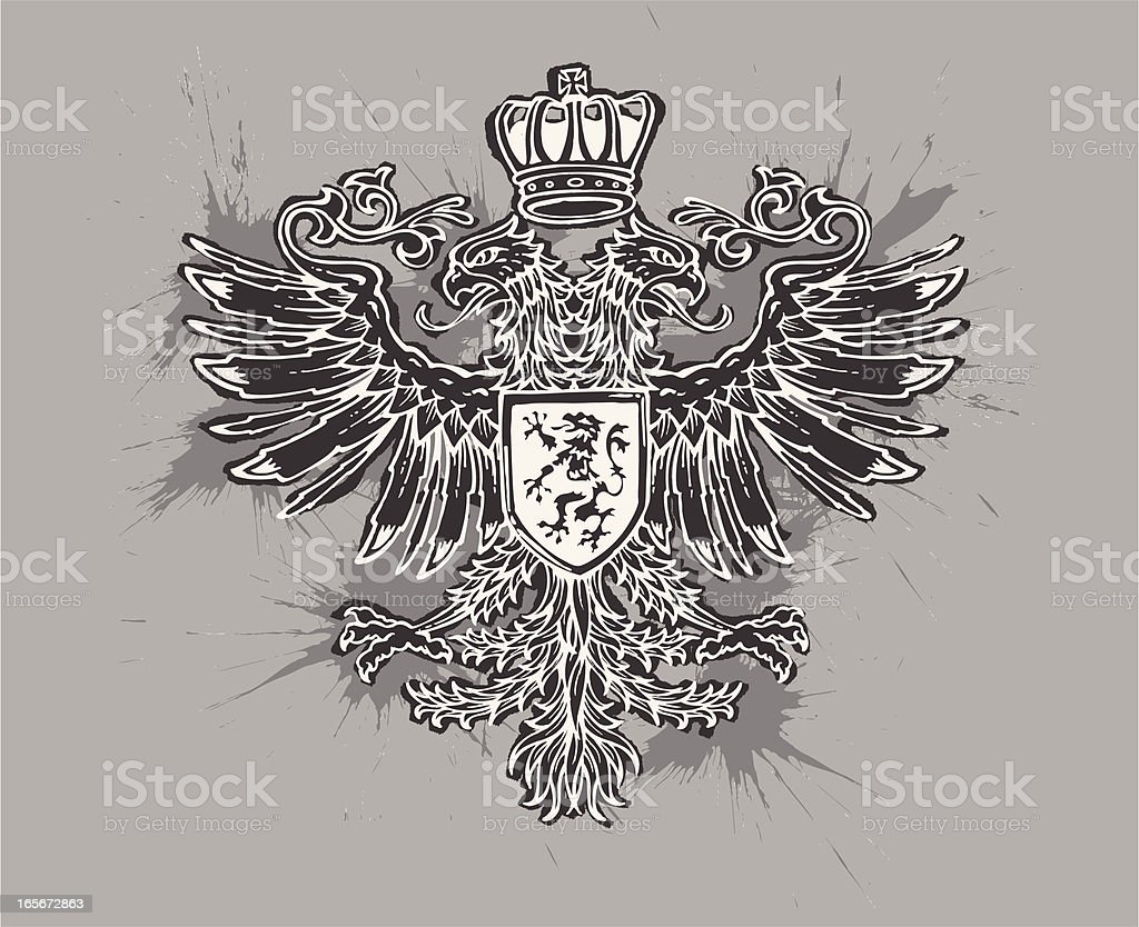 griffin crest vector art illustration