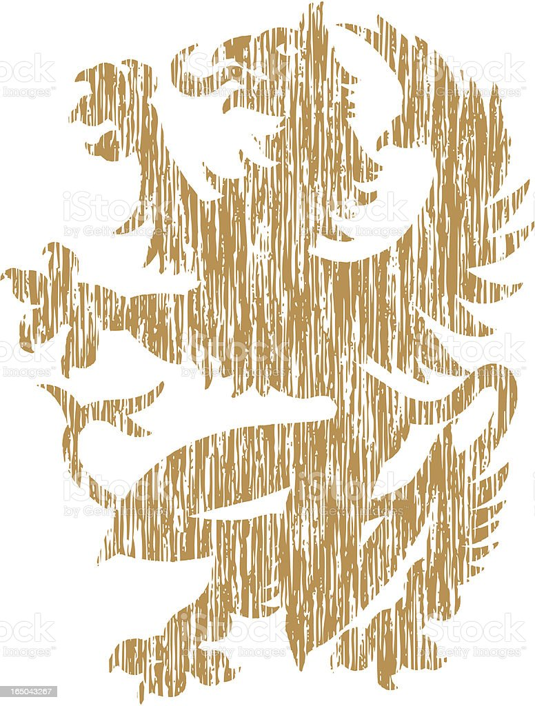 Griffin - Distressed royalty-free stock vector art