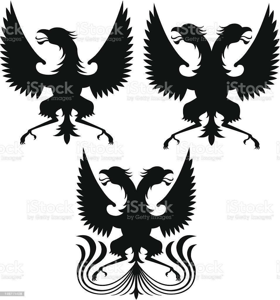 griffin in tre stile illustrazione royalty-free