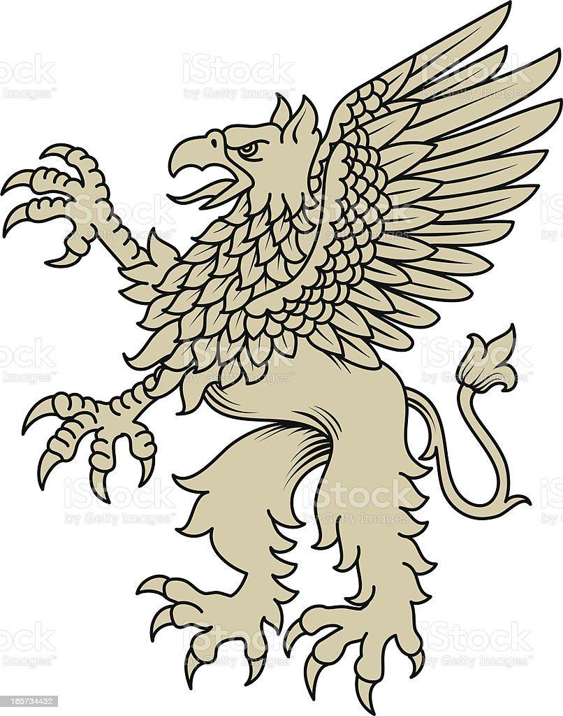 Griffin Rampant vector art illustration