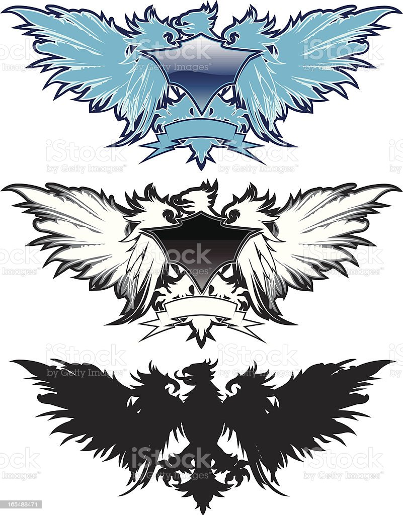 griffin rider royalty-free stock vector art