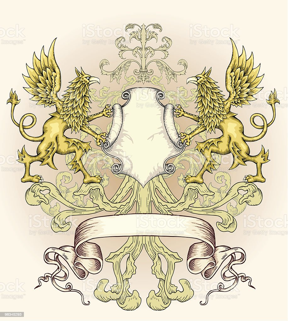 Griffin Shield royalty-free stock vector art