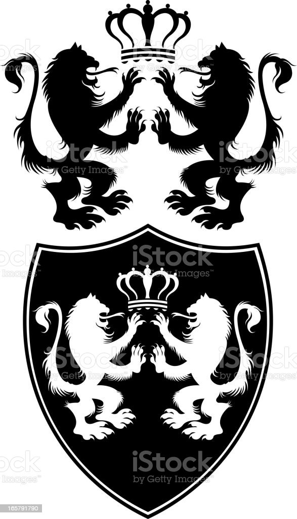 griffin silhouette royalty-free stock vector art