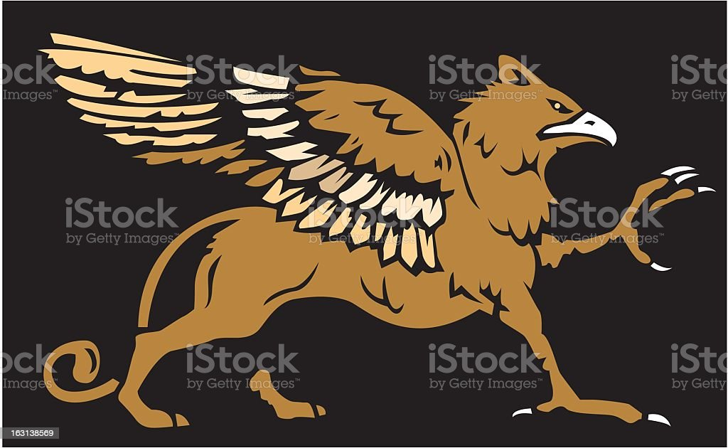 Griffon vector art illustration