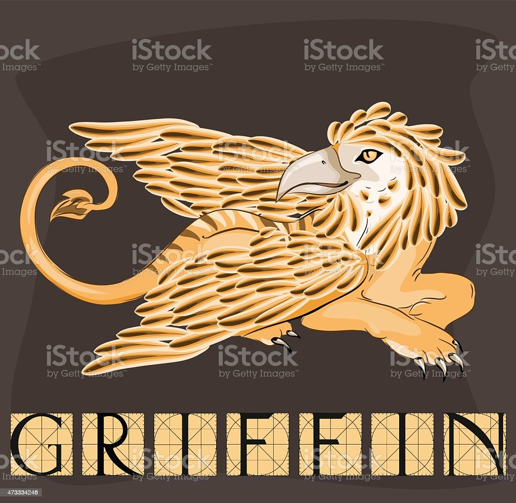 Griffin with title vector art illustration