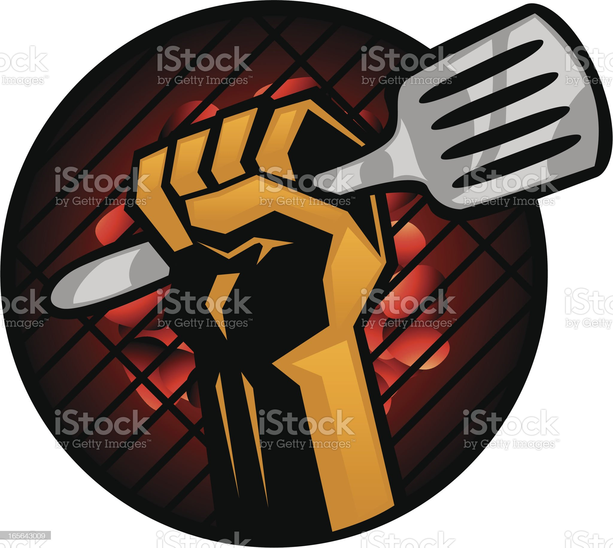 grill fist royalty-free stock vector art