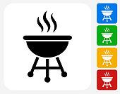 Grill Icon Flat Graphic Design