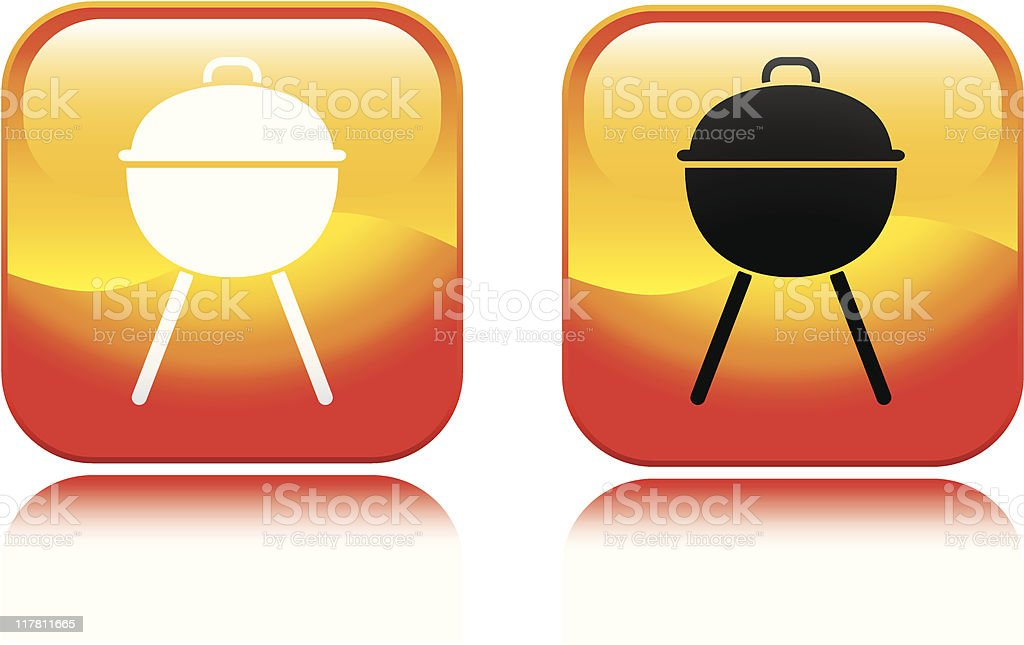 BBQ Grill Icon royalty-free stock vector art