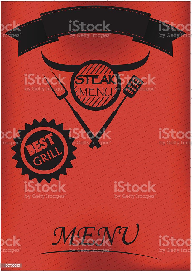 Grill Menu poster royalty-free stock vector art