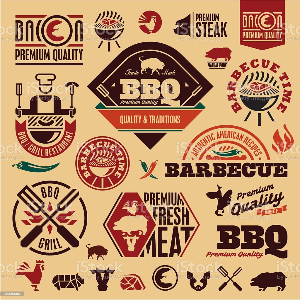 BBQ grill vector art illustration