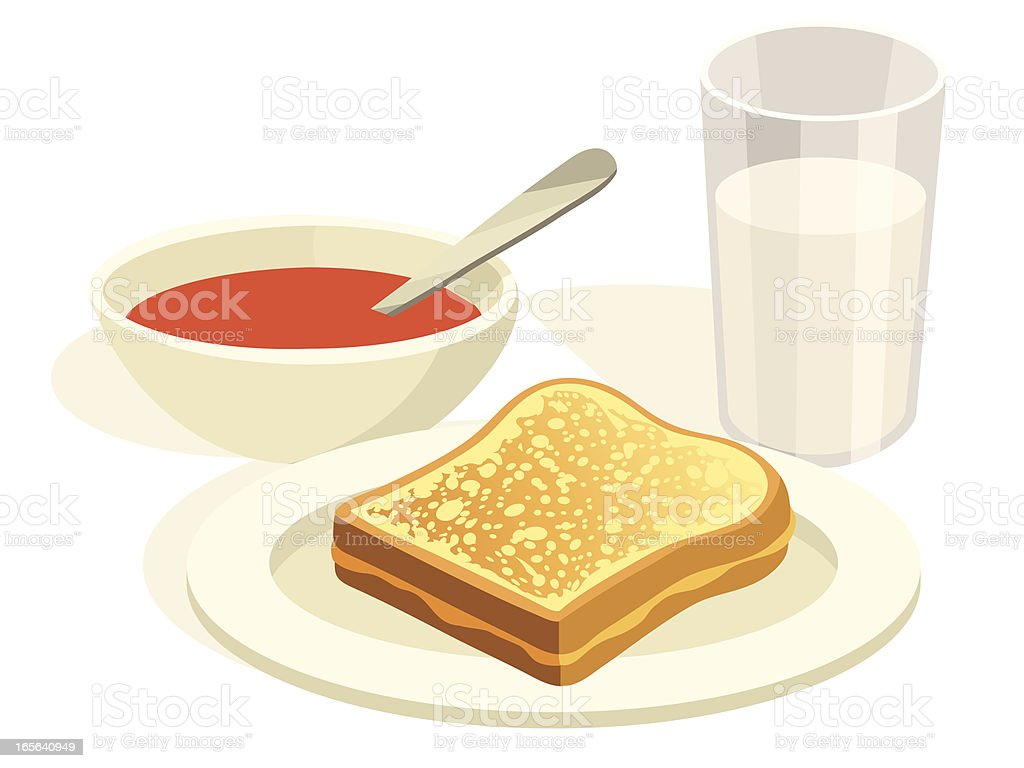 Grilled Cheese and Tomato Soup Lunch vector art illustration