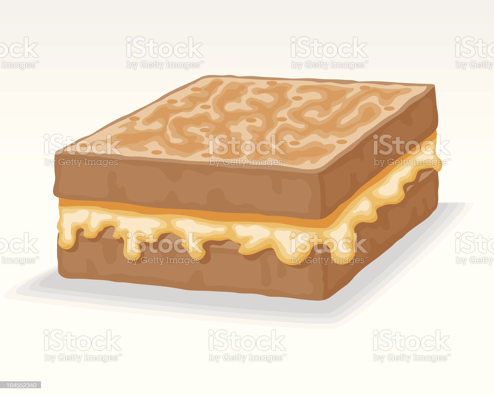 Grilled Cheese royalty-free stock vector art