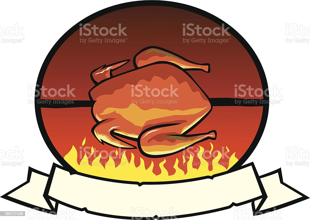Grilled Chicken Label royalty-free stock vector art