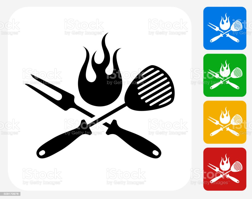Kitchen utensil clip art - Grillen K 252 Chenutensilien Symbol Flache Grafik Design