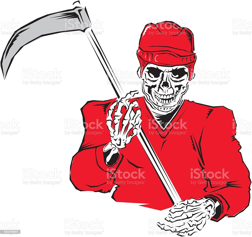 Grim Reaper Hockey Player royalty-free stock vector art