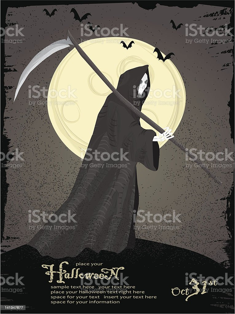 Grim reaper royalty-free stock vector art