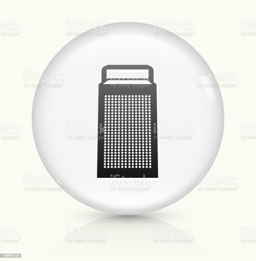 Grinder icon on white round vector button vector art illustration