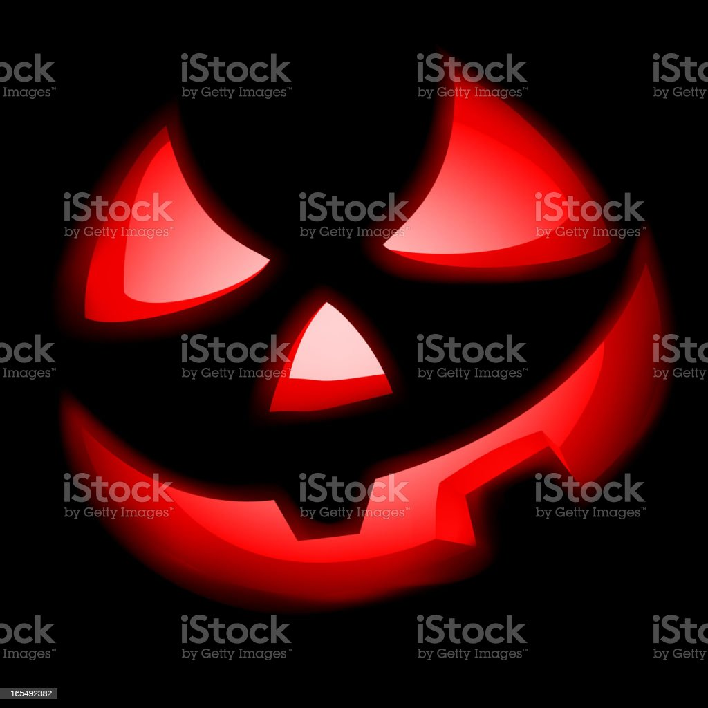 Grinning Jack O Lantern. royalty-free stock vector art