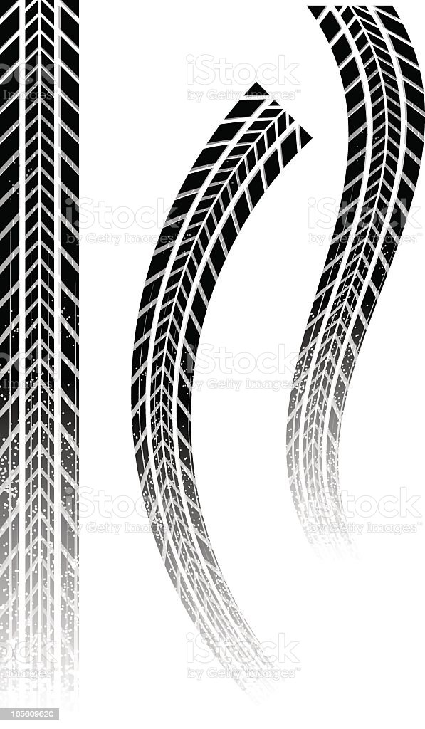 gritty skid vector art illustration