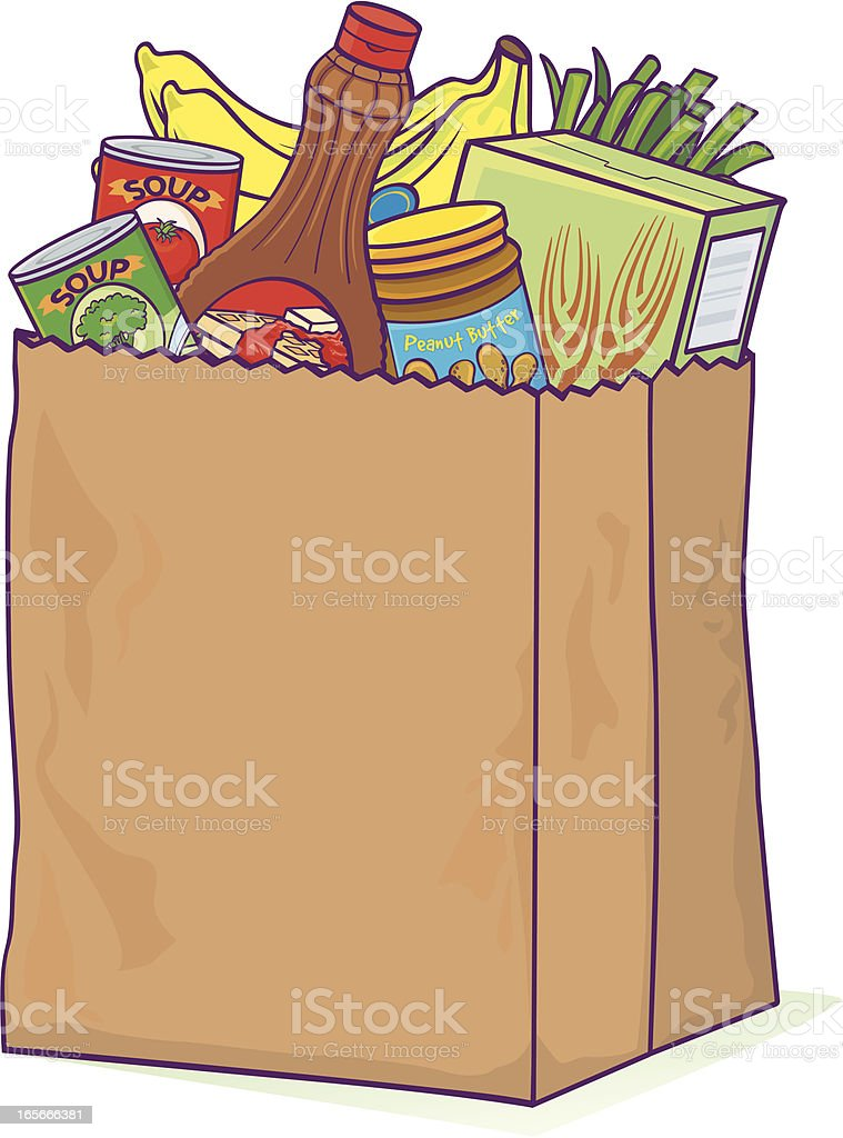 Grocery bag royalty-free stock vector art