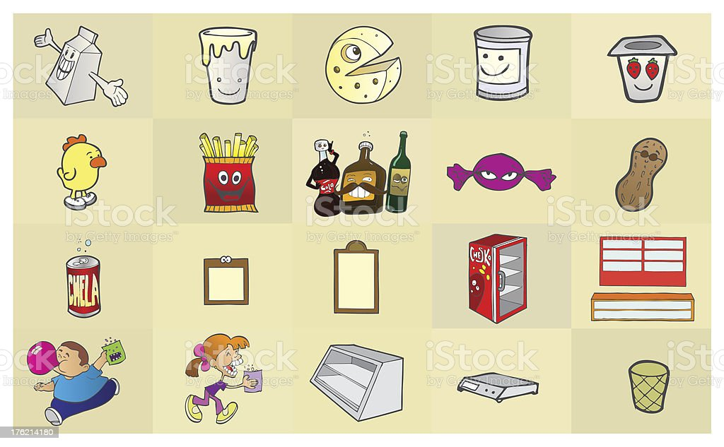 Grocery Elements royalty-free stock vector art