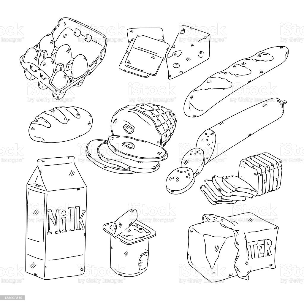 Grocery Food royalty-free stock vector art